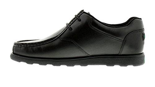6 Tallas RU Fragma hombre Kickers Negro informales 11 cordones Zapatos con zapatos negros Black vT7wwF