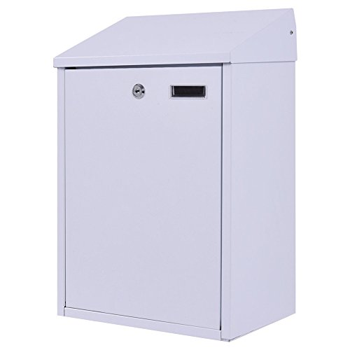 LTL Shop White Vertical Wall Mount Mailbox Galvanized steel With Door &2 - Road Shops Lincoln Miami