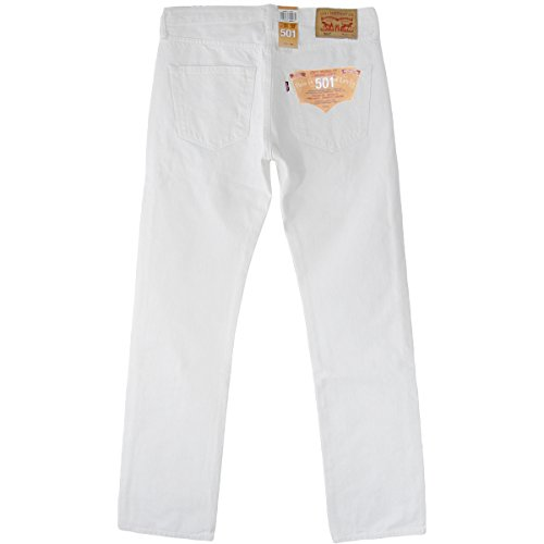 White Fit 501 Original Optical Levi's Jeans Homme EYU08qxw