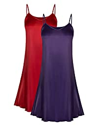 INIBUD Women Night Slip Dress Night Gown Sleepshirts Nightgown Sleepwear
