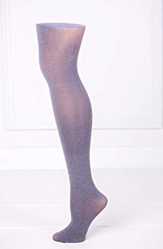 SILVER CHIC | Women's Semi Opaque GREY TIGHTS with Silver Shimmer | by Gatta [Made in Europe]