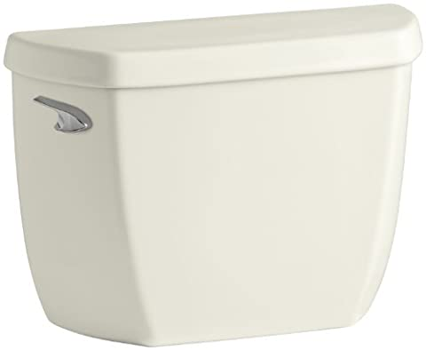 Kohler K-4436-T-96 Wellworth Classic 1.28 gpf Toilet Tank with Class Five Flushing Technology and Left-Hand Trip Lever with Tank Locks, - Kohler Class Five Flushing System