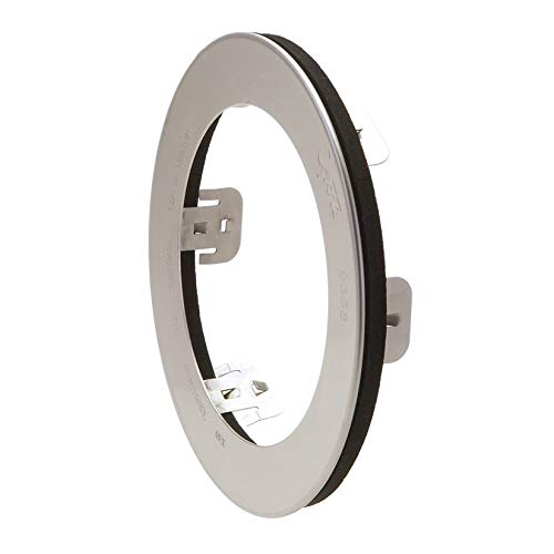 Grote 93683 4 1/2' Stainless Steel Snap-In Theft-Resistant Flange For 4' Round LED Lights