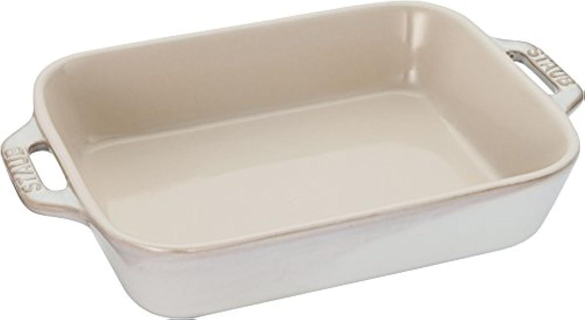 [해외] STAUB 스타우브 세라믹 그라탕 접시 내열 오븐 40511-865 아이보리