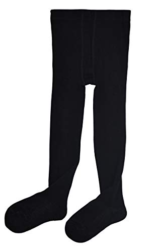 (Vearin Toddler Girls' Seamless Cotton Footed Tights (Small:2-4 Years, Black))