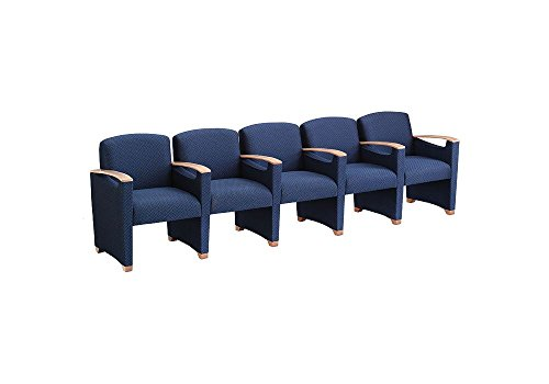 Fabric Five Seater with Center Arms Dimensions: 118
