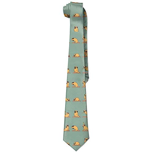 Men's Fitness Pug Dog Fashion Skinny Tie - Jerry Turquoise Necklace