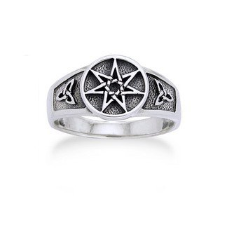 Faerie Star - Sterling Silver Faerie or Elven Star and Celtic Knot Ring Size 10(Sizes 4,5,6,7,8,9,10,11)