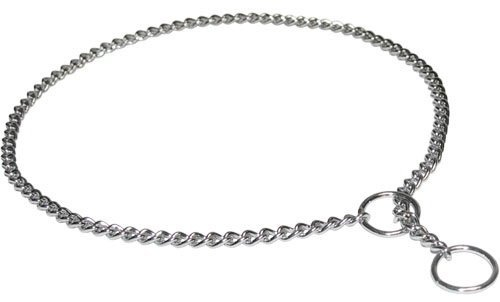 Dean & Tyler Presents Short Link Professional Show Collar FUR Saver Chrome Plated Steel Size 24  By 1mm Herm Sprenger Original This FUR Saver Recommended By VDH Member of F.C.I