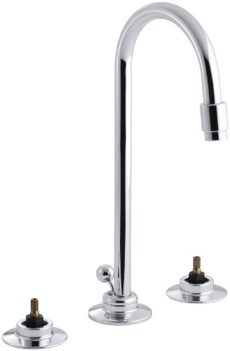 (KOHLER K-7435-K-CP Triton Widespread Lavatory Faucet, Polished Chrome (Handles Not Included))
