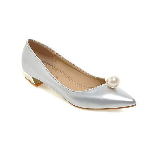 5 Silver SDC05682 AdeeSu Argenté 36 Compensées Sandales Femme wdXv0q7vx