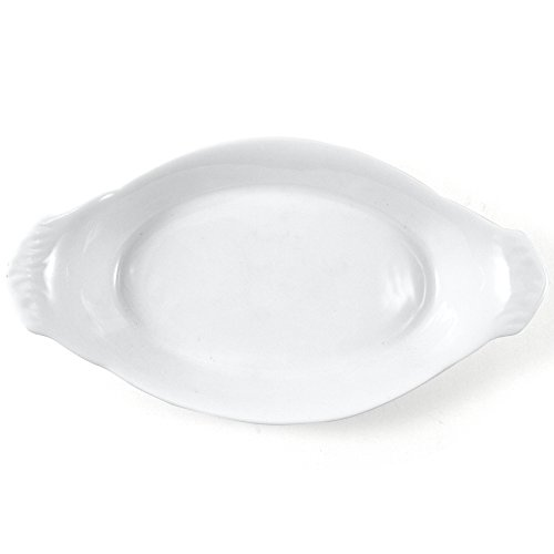Omniware White Porcelain Au Gratin Dish, 10 Inch
