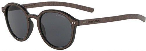 Giorgio Armani AR8081 Matte Black/Wood Wenge' Sunglasses