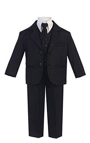 (5 Piece Boy's Dress Suit with Shirt, Vest, and Tie (16H,)