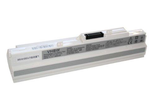 AKKU passend für MSI U100 U 100 U 90 U90 WIND etc. NETBOOK NOTEBOOK LAPTOP SUBNOTEBOOK 6600mAh 11.1V weiß white