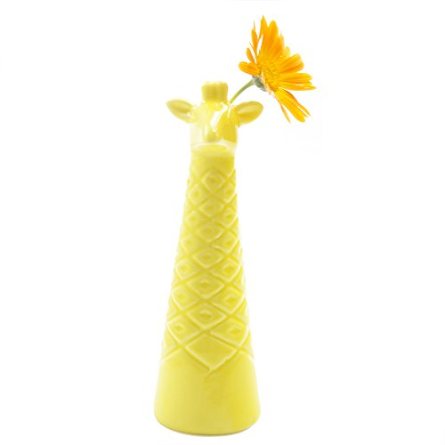 Chive - Giraffe Simple Fun Gift Cute Porcelain Yellow Bud Flower Vase