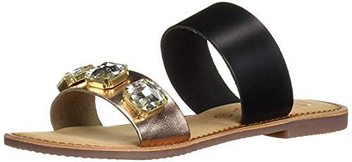 (Callisto Women's Wrigley Flat Sandal, Black, 7 M US )