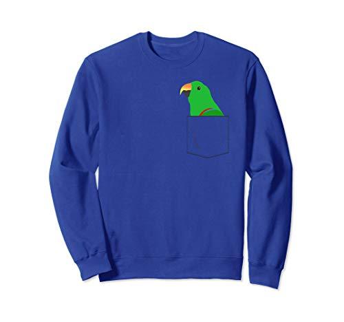 Eclectus Male Parrot In Your Front Pocket Sweatshirt