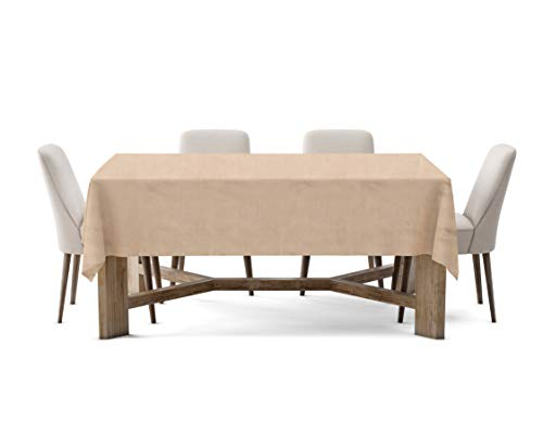 Firefly Craft Rustic Burlap Rectangle Table Cloth, 60 Inches by 126 Inches, Set of 1 ()