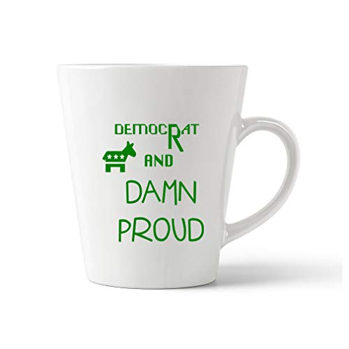 Style In Print Forest Green Democrat and Damn Proud #1 Ceramic Latte Mug - 12 OZ