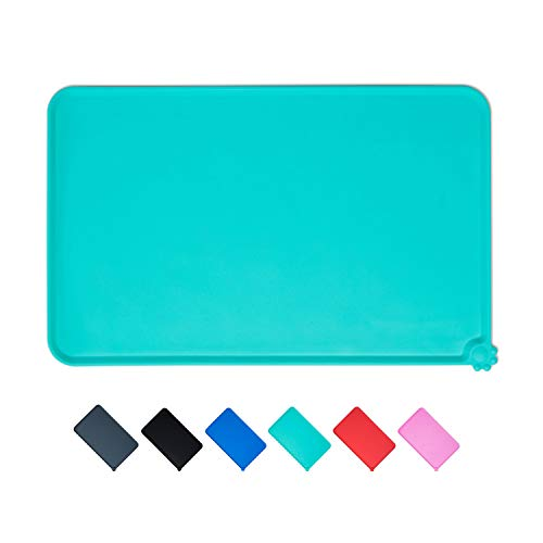 SACRONS-Silicone Pet Feeding Mat, Pet Bowl Mat/Pad, Soft, Waterproof, Easy to Clean, to Prevent Food and Water Spilled on The Ground,Dog & Cat Food Mat