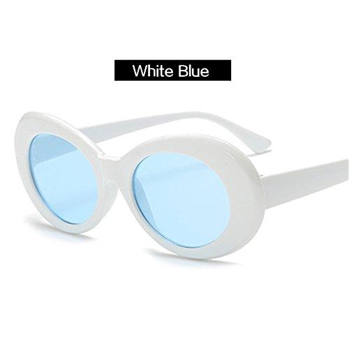 KLXEB Gewicht Brille Männer Frauen Sonnenbrille Weiblich Männlich Ovale Sonnenbrille Schwarz Und Weiß Gläser Uv 400, Schwarz Rot