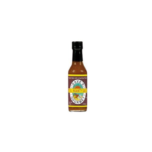 Dave's Gourmet Total Insanity Sauce Economy Case Pack 5 Oz Bottle(Pack of 12)