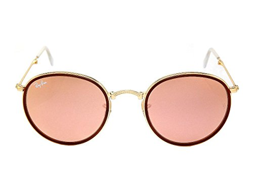 New Ray Ban Icons RB3517 001/Z2 Gold / Brown Mirror Pink 51mm Sunglasses