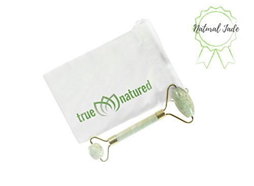 Jade Facial Roller for Face Massager – 100% Real Jade Roller for Face Neck Derma Roller - Anti Aging Eye Roller Slimming Lymphatic Drainage Facial Massager