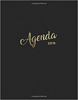 Agenda 2019: Semanal Diario Organizador Calendario | Negro y ...