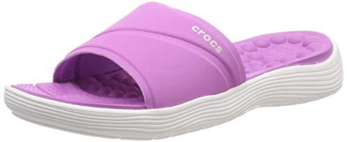 Donna Aperta Reviva Punta Slide Sandali violet Crocs 592 white Viola A wpYxXPOqO