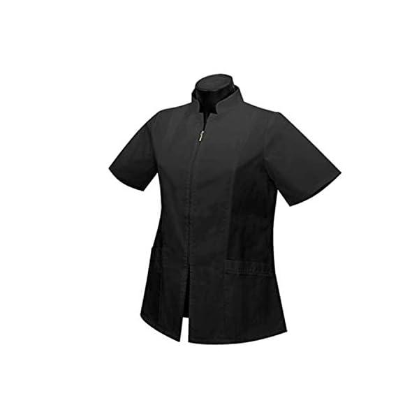 MISEMIYA Uniformes Sanitarios Casaca Camisa Mujer Cierre Cremallera Manga Corta 1
