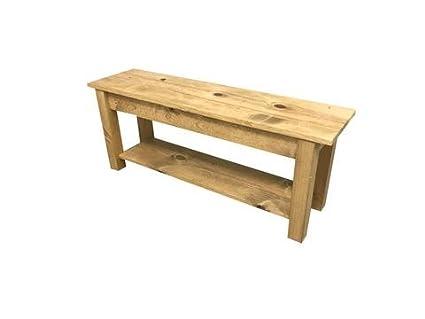 Astonishing Ranch Golden Oak Storage Bench 18 Machost Co Dining Chair Design Ideas Machostcouk