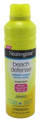 Neutrogena Beach Defense Body Spray Sunscreen with Broad Spectrum SPF 30, Water-Resistant and Oil-Free Sun Protection, 6.5 oz (Pack of 6)