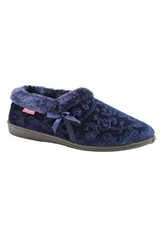 Dunlop Womens Gemma Slippers - Navy Blue - UK 8