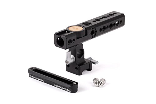 Wooden Camera NATO Handle Kit for Cameras, Includes Handle Plus, 100mm Safety NATO Rail by Wooden Camera