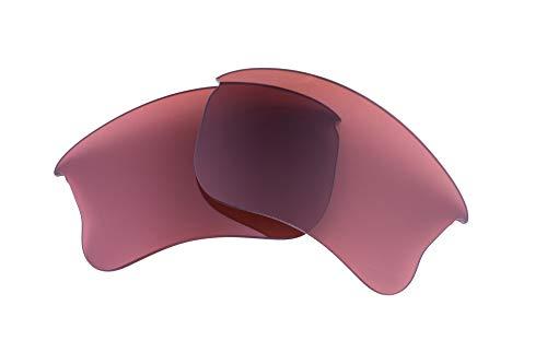 Flak Jacket Xlj Golf - LenzFlip lenses Compatible With Oakley FLAK JACKET XLJ Polarized Replacement Lenses - Rose