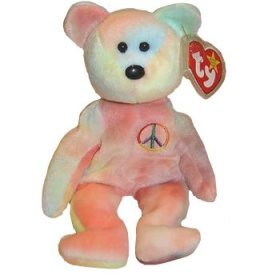 Ty Beanie Babies - Peace the Bear - Tye Died - Retired from Ty