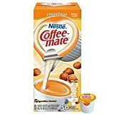 Coffee-mate Hazelnut Creamer.375 oz, 50 Creamers/Box - 1 Pack