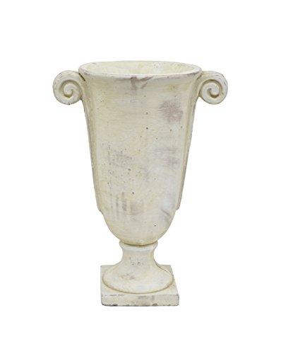 - Benzara HRT-67487 Cement Footed Urn