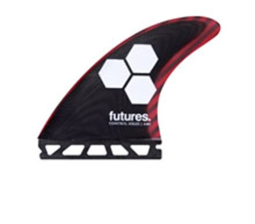 New Futures Surf Fam1 Carbon Fiberglass Tri Fin Set Glass (Carbon Fiber Fin Set)