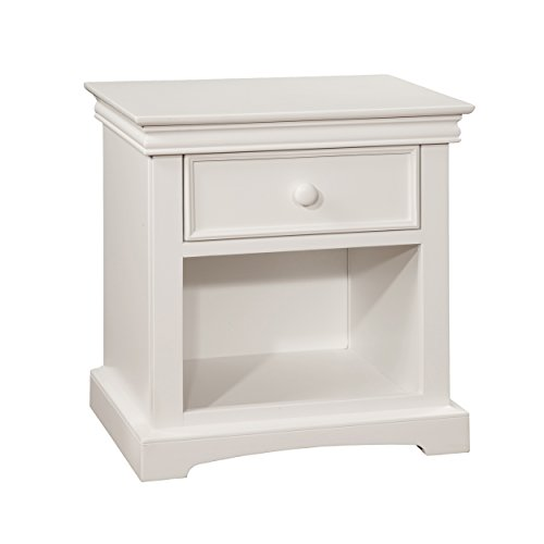 Bolton Furniture 8601500 Cambridge 1-Drawer Nightstand, White by Bolton Furniture