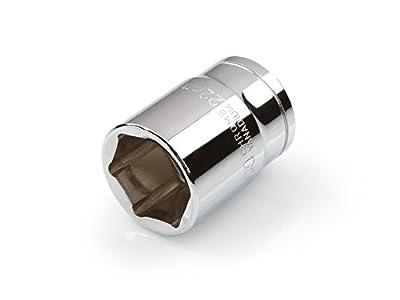 TEKTON 14296 1/2-Inch Drive by 22 mm Shallow Socket, Cr-V, 6-Point