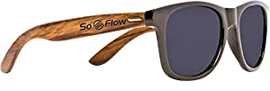 SoFlow Walnut Wood Sunglasses for Men or Women with Polarized Lenses - Wooden