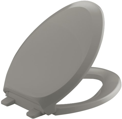 Cashmere Fixture (KOHLER K-4713-K4 French Curve Quiet-Close with Grip-Tight Bumpers Elongated Toilet Seat, Cashmere)