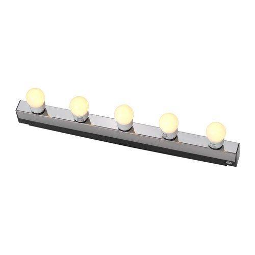 Spiegel Beleuchtung Ikea ikea musik wandleuchte verchromt amazon de küche haushalt