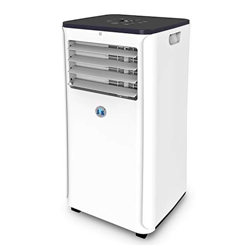 JHS 10,000 BTU Smart Portable Air Conditioner Wi-Fi, 3-in-1 Floor AC Unit with 2 Fan Speeds, Remote Control and Digital LED Display, Cover up to 300 Sq. Ft.