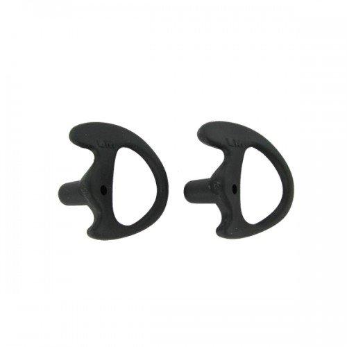 Valley Enterprises® Black Replacement Medium Earmold Earbud Left Side Two-Way Radio Audio Kits 2 Pack