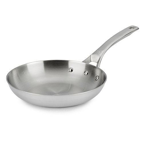 Calphalon AccuCore Stainless Steel Omelette Pan, 8-Inch (Pans End Frying High)