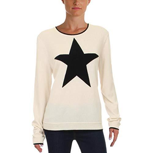 Cardigan Lauren Cashmere - LAUREN RALPH LAUREN Womens Laney Cashmere Printed Sweater Ivory L